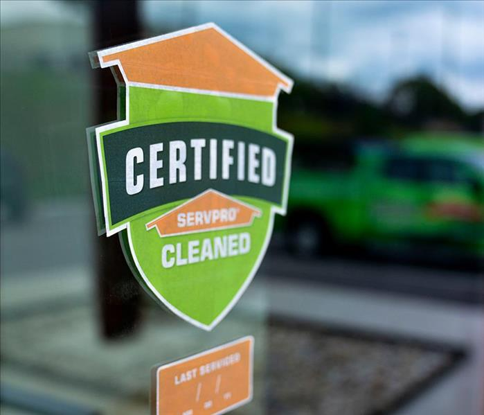 Certified: SERVPRO Cleaned by SERVPRO of Wynwood