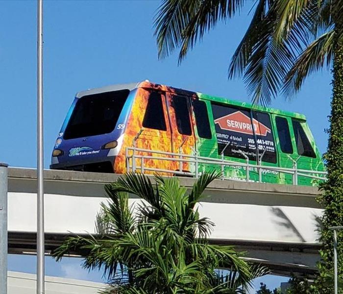 SERVPRO Wrapped Miami Metro Mover